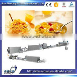 Automatic Puffing Wheat Flour Extrusioncorn flakes machine Process Line