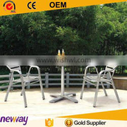 Cast aluminum furniture modern style dining chair set outdoor dining chair set