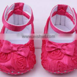 2014 Hot sale! Lovely rose flower Infant shoes,baby shoes baby girl Toddler shoes wholesale