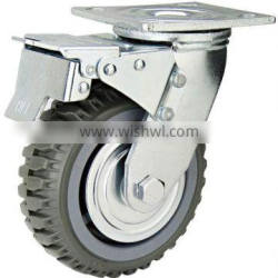 Trolley wheel and truck wheel, Heavy Duty PU Caster Swivel with brake and lock
