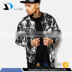 Daijun oem new deisng high quality cheap cotton custom black running sports design jacket