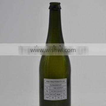 Wholesales 750ml Carbonated Glass Bottle With Green Color