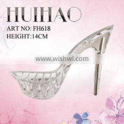 manufacturer high quality PC transpare shoe heels high heels for woman shoe sole material made