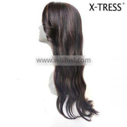 28inch destiny 180% long wave natural unique design cheap blend indian human hair wig from manufacturer