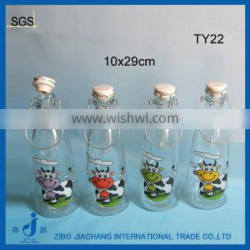 1000ml painted glass bottles with screen printing logo