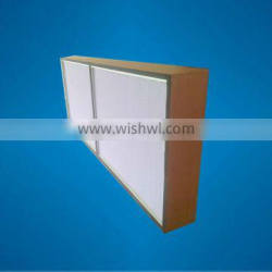 99.99% Wooden frame HEPA filter for HVAC system