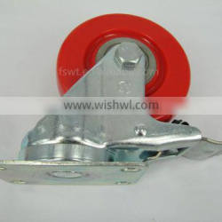 All Size Nylon Wheel 75mm Top Plate Industrial Caster With Stop