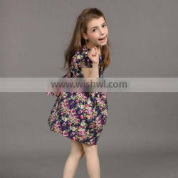 2017 girl Vintage party dresses for 6 year old girl Long Dress