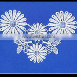 100% Cotton collar flower embroidery lace