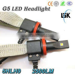 High quality 20w h9 high power led headlights 2500LM with 2 years warranty