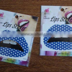 2016 best seller eco-friendly hig quality temporary lip tattoo sticker