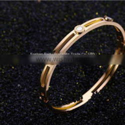Gold Rose Gold Silver PVD Plating Womens Mens Stainless Steel Bracelet Armbånd Esposas