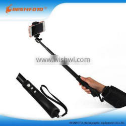 Factory price Bluetooth Selfie stick Extension Arm Monopod Telescoping Mount Quality Choice