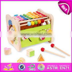 2017 New design educational beats toy wooden toddlers music toys W07A119