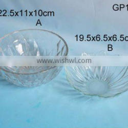 different shape featured glass bowl