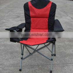2018 Durable Folding camping Chair Lumbar Back Support Portable Deluxe Padded Oversize with Cooler and Armrest