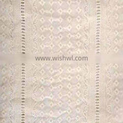 organic cotton voile embroidery lace fabric