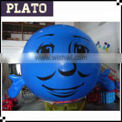 Deep Blue printed balloon for shop advertisment