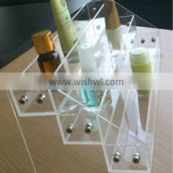 clear assembled 3 levels acrylic cosmetics nail polish counter display holder