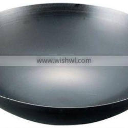 Iron Blue Temper Press Chinese double handle fry pan