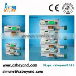 High pressure Stackable Injection Syringe Pump with Bolus with Drug Library for Laboratory for Anesthesia