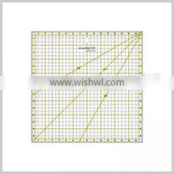 Kearing durable 15*15 inch square quilting ruler with scale anlges acrylic template for dressmaking handicraft# KPR1616