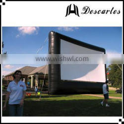 Airtight sealed Australia 6m wide inflatable movie screen for outdoor events