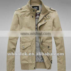 Custom logo Elegant men's casual jacket men's cotton canvas blazer