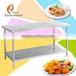 CE approved hot sale good price separated assembled SUS commerical kitchen worktable bench for hotel restaurant