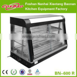 BN-600.R CE Three Layers Stainless Steel Curved Glass Food Warming Showcase/Stainless Steel Food Warmer Display in China