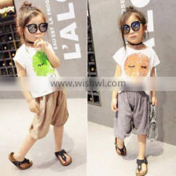 Wholesale Two Colors Lovely Cartoon Printing Children T Shirts China