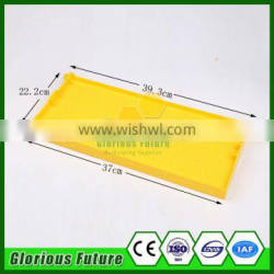2017 Yellow unique unibody Bee hives plastic frame with comb foundation