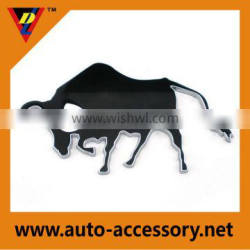Plastic chrome cow stickers car emblems logo custom