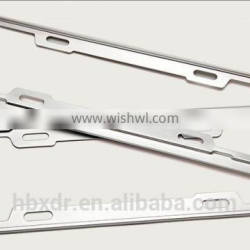 OEM 2014 new style aluminum alloy profile for car license plate frame