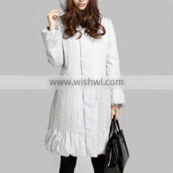 Wheatear quilted long coats, padded long jacket for women 2013