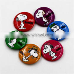 a series of colorful cute Disney beautiful animal buttons /badge/Snoopy pins for decoration
