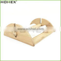 Bamboo Napkin Holder with Bar Tissue Paper Holder/Homex_FSC/BSCI Factory