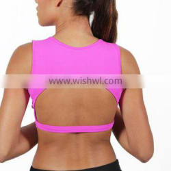 Custom Sexy clothes women Polyester Spandex Rose Red Workout Clothes