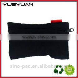 2015 Factory price black pouch pencil bag recycled small zipper bag
