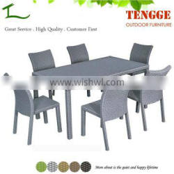 YH-5091 Outdoor furniture rattan dinning table and chairs for 6 people