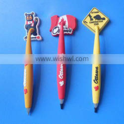 Canada Ottawa Maple Shape Rubber Ball Pen Stationery Office Ball Point Pen