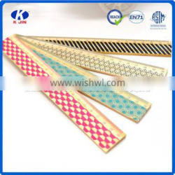 Promotion cheap 15cm wood color printing ruler with custom for kids
