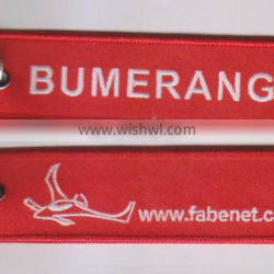 high quality Custom polyester embroidery keychain