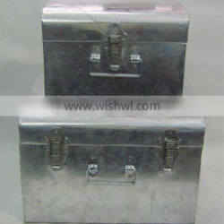 metal box,trunk box,metal trunk box,storage box,metal box with lid,trunk box