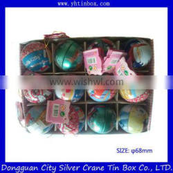 Recyclable Feature Customized Factory Tin Can/Tin Case/Ball Shape Packaging Tin Box for Chocolate
