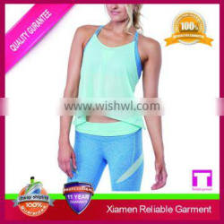 Cotton spandex womens workout tank top/loose fitting gym tank tops&singlets