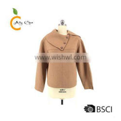 Custom good service quality guarantee 100% cashmere winter jackets women coats