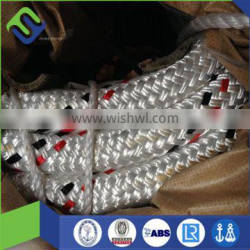 32mm double braided HMPE core with Polyester jacket rope for mooring