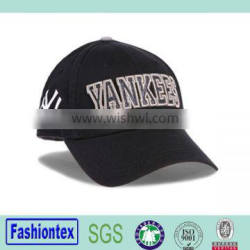 6 Panel Embroidery Baseball Caps Flexfit Black Baseball Cap For Sale