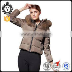 2016 COUTUDI high quality pure color women fur hooded bomber anorak winter duck down coat woman jacket